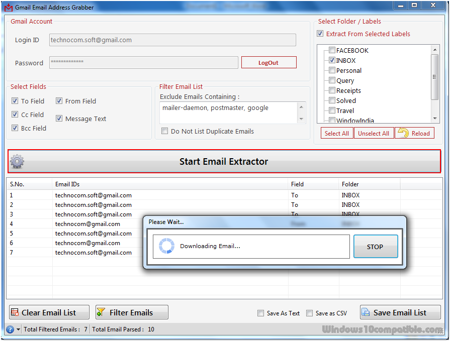 Gmail Email Address Grabber 2 5 0 11 Free download